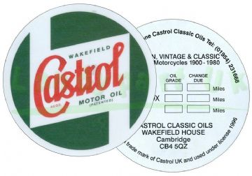 CASTROL - WINDSCREEN SERVICE STICKER